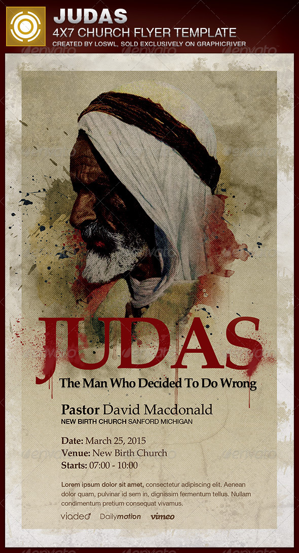 GraphicRiver Judas Church Flyer Template 6783376