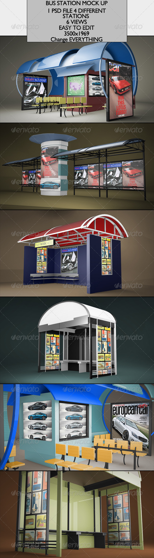 GraphicRiver Bus Station Mock-up 6783448