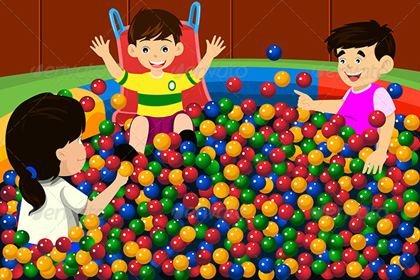 GraphicRiver Kids Playing in Ball Pool 6783450