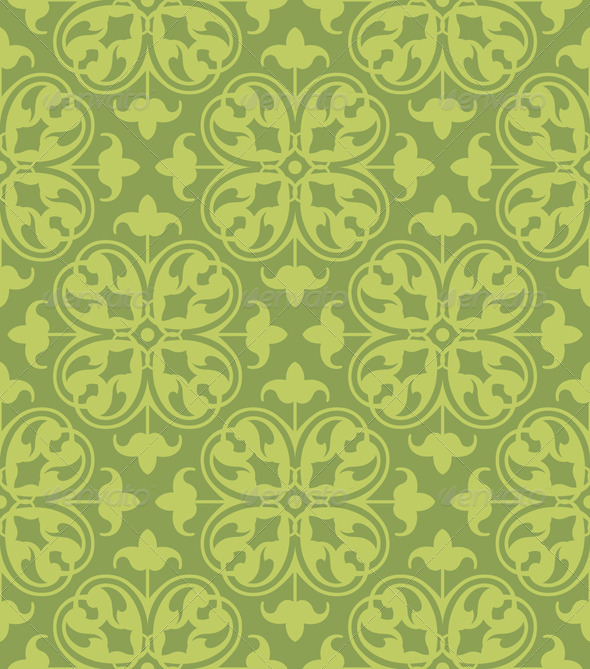 GraphicRiver Seamless Clover Damask Pattern 6783640