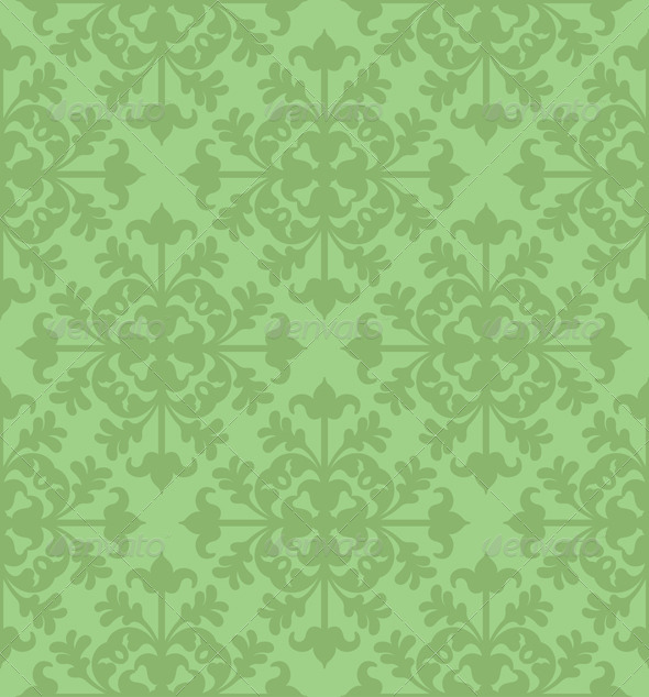 GraphicRiver Seamless Clover Damask Pattern 6783643