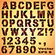 Stencil Letters and Numbers - GraphicRiver Item for Sale