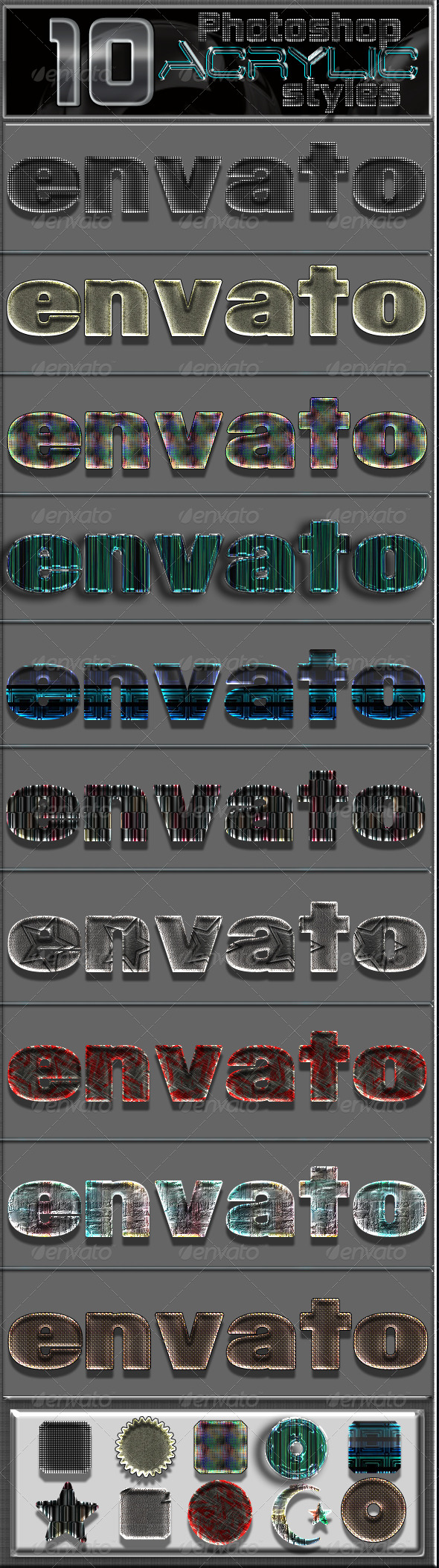 GraphicRiver 10 Acrylic Photoshop Text effects 6783993