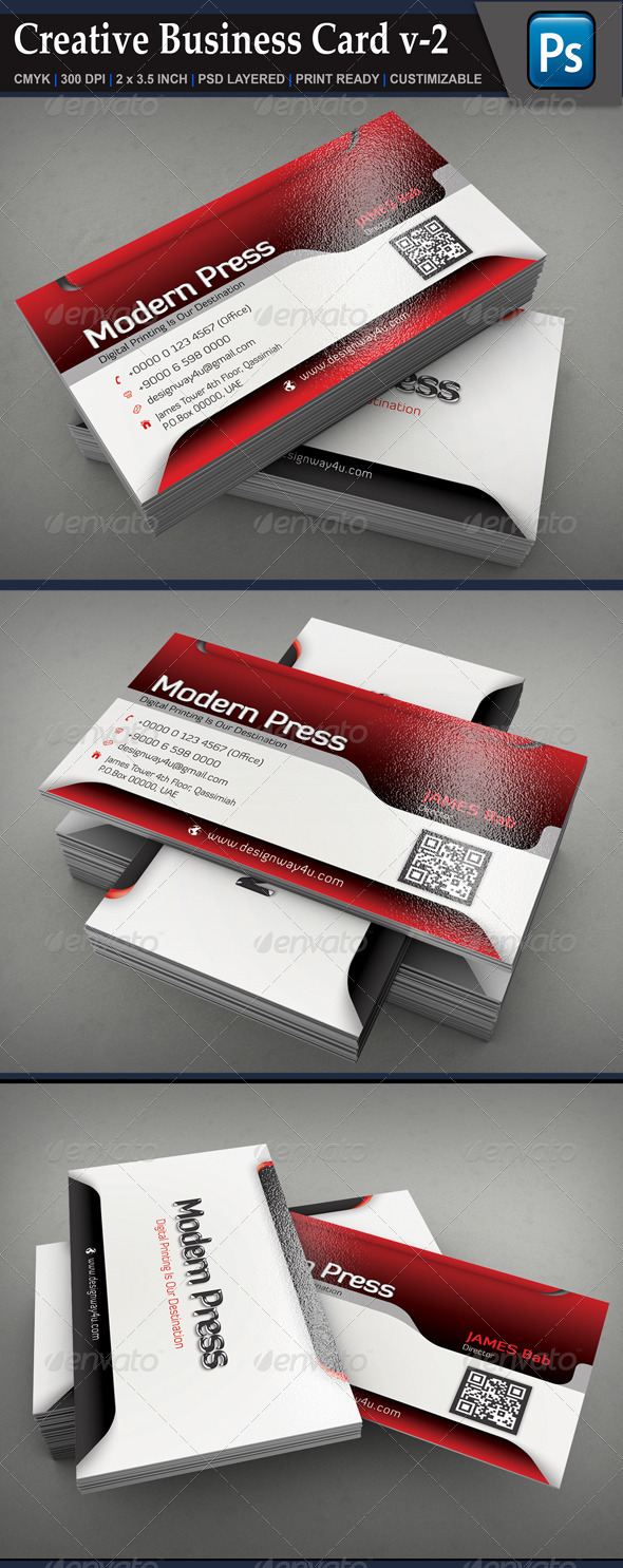 GraphicRiver Creative Business Card v-2 6763517