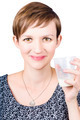 Happy healthy woman with fresh milk - PhotoDune Item for Sale