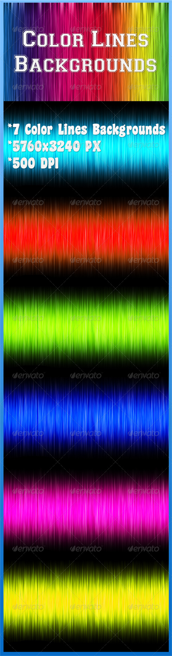 GraphicRiver Color Lines Backgrounds 6784448