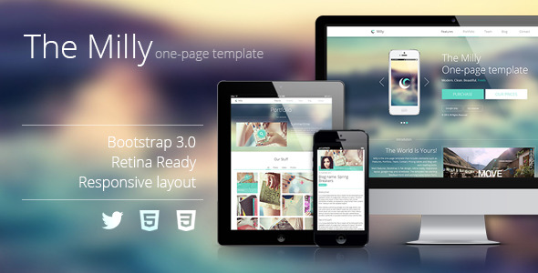 The Milly - One Page Template