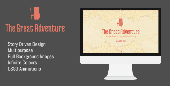 ThemeForest The Great Adventure- Full screen responsive theme 6768611