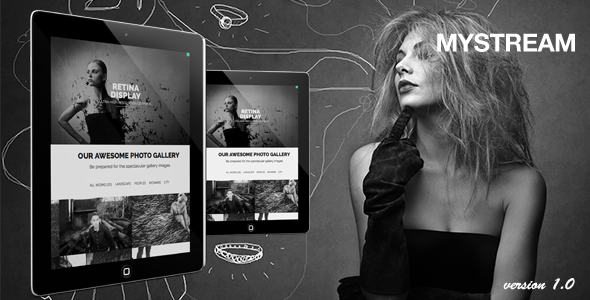 ThemeForest MyStream Responsive Photography One-Page Template 6763964