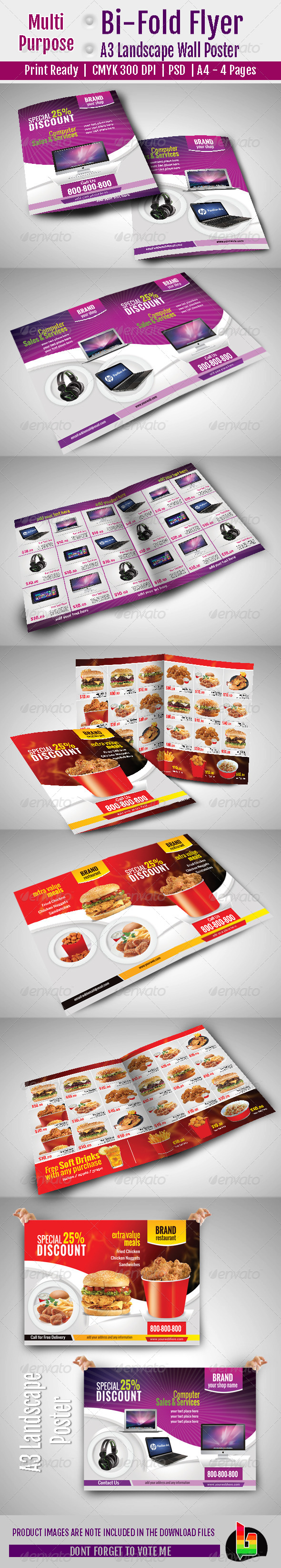 GraphicRiver Multi Purpose Bi-Fold Flyer & A3 Poster 6785689