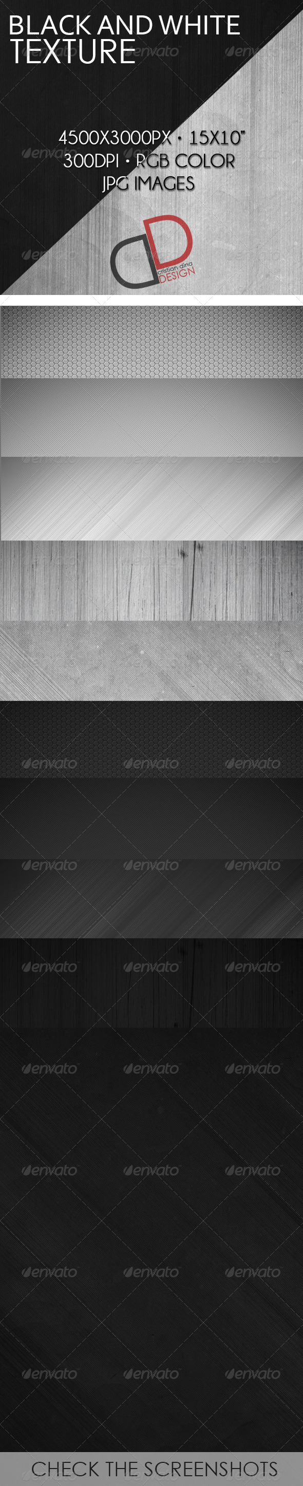 GraphicRiver Black and White Texture 6785704