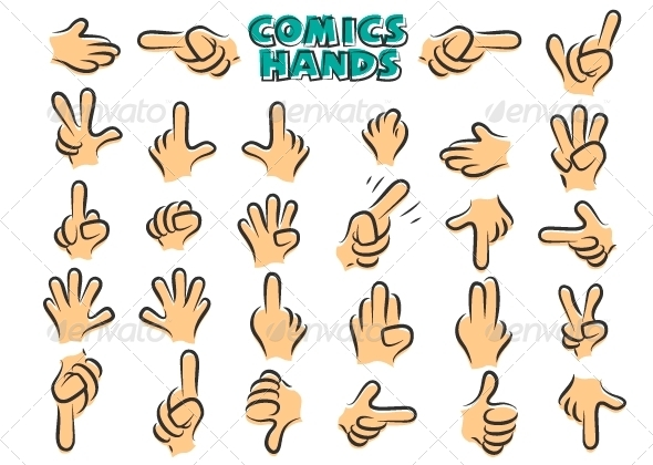GraphicRiver Comics Hands 6785760