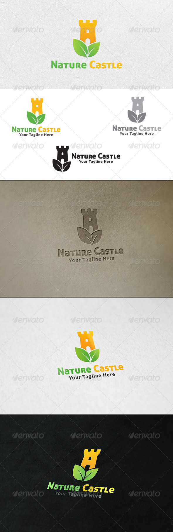GraphicRiver Nature Castle Logo Template 6785831