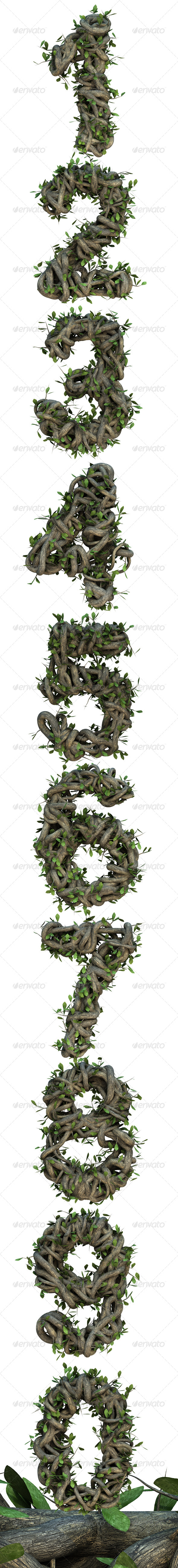 GraphicRiver Ivy Numbers 6786183