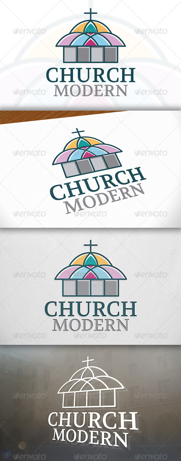 GraphicRiver Color Church Logo 6786425