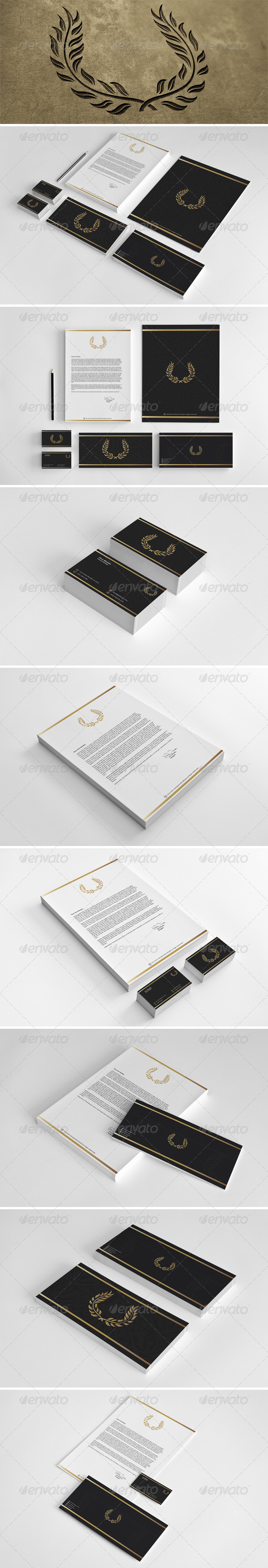 GraphicRiver Gold & Black Corporate Identity 6786553