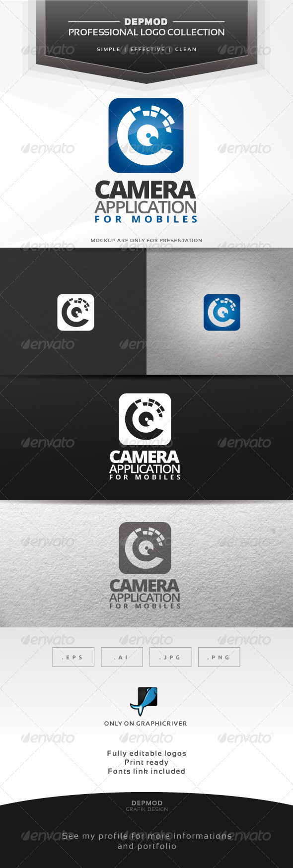 GraphicRiver Camera Application Logo 6788272