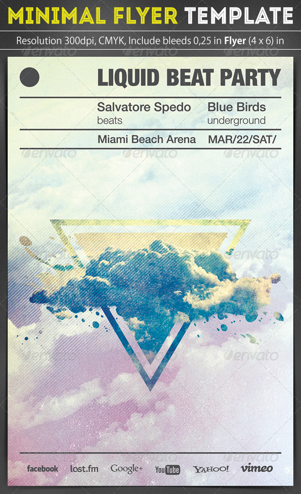 GraphicRiver Minimal Flyer Template 6788585