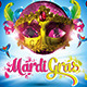 A Colorful Mardi Gras / Carnival Party Flyer - GraphicRiver Item for Sale
