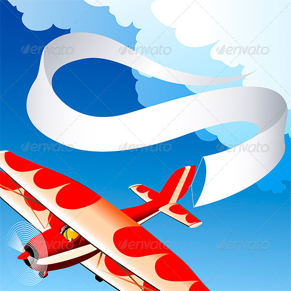 GraphicRiver Plane with Banner 6788749