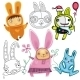 Vector set of different cute Rabbits - GraphicRiver Item for Sale
