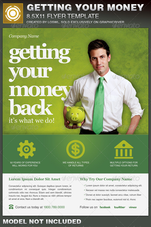 GraphicRiver Getting Your Money Back Tax Flyer Template 6789465