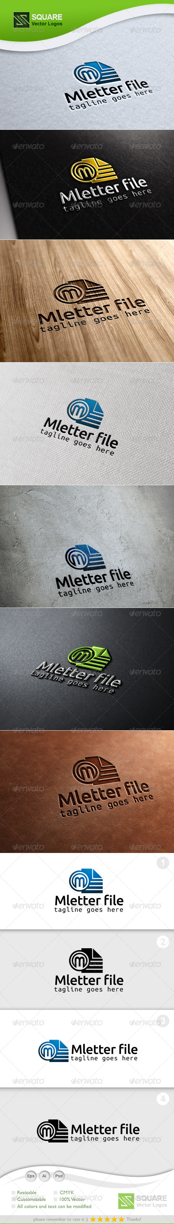 GraphicRiver M File Vector Logo Template 6789469