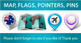 Flags, Maps, Pins, Pointers