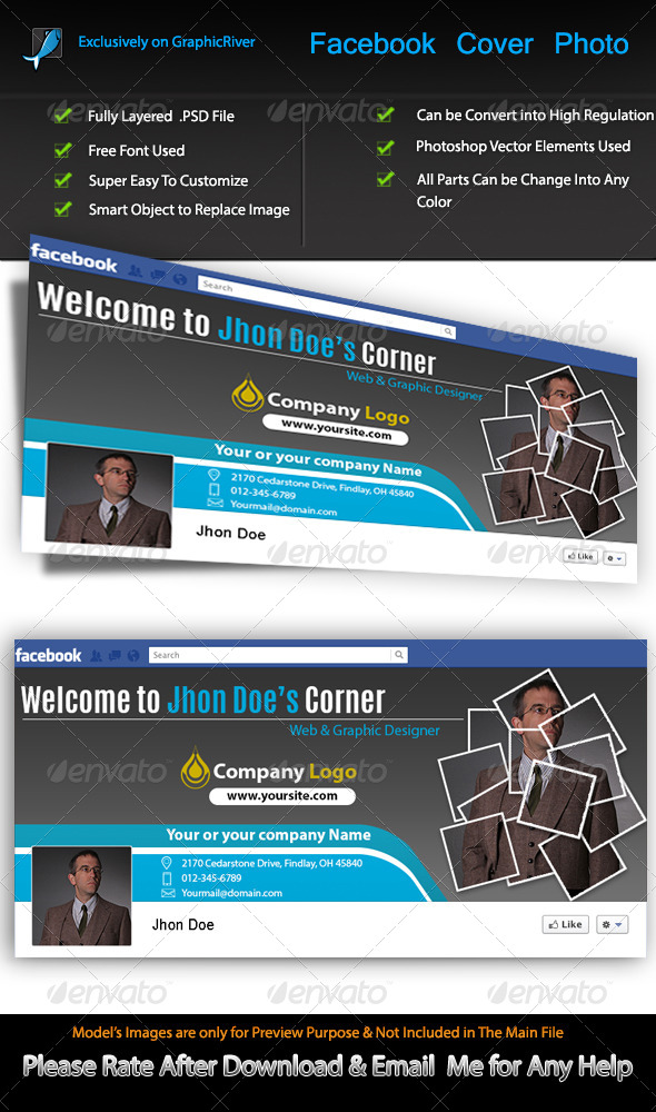 GraphicRiver Expert Profile FB Cover 6790257