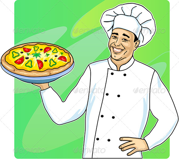GraphicRiver Cook with Pizza 6790310