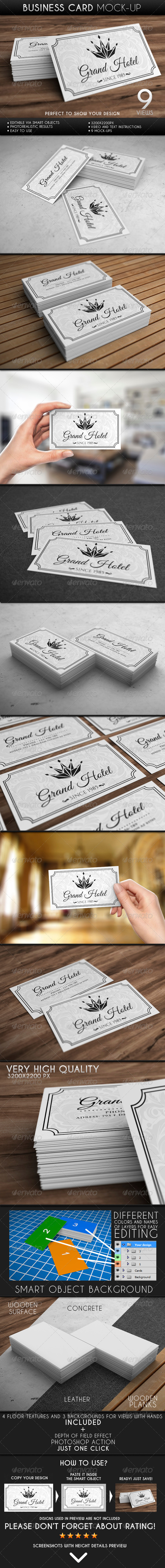 Business Card Mock-Up - Business Cards Print