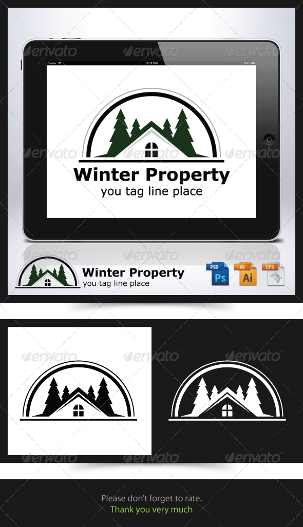 GraphicRiver Winter Property Logo 6790911