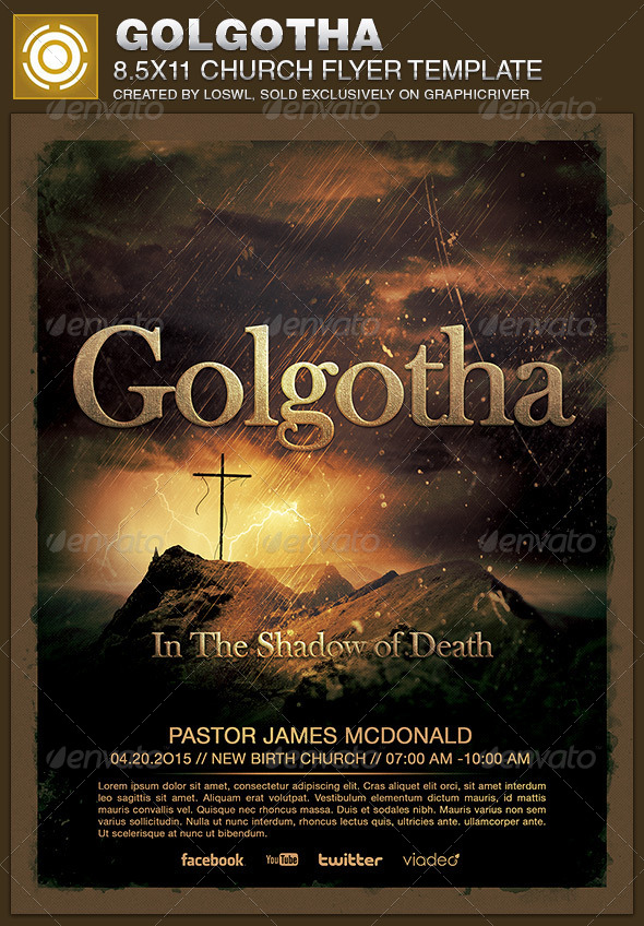 GraphicRiver Golgotha Church Flyer Template 6791406