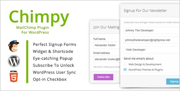 Chimpy - MailChimp WordPress Plugin - CodeCanyon Item for Sale
