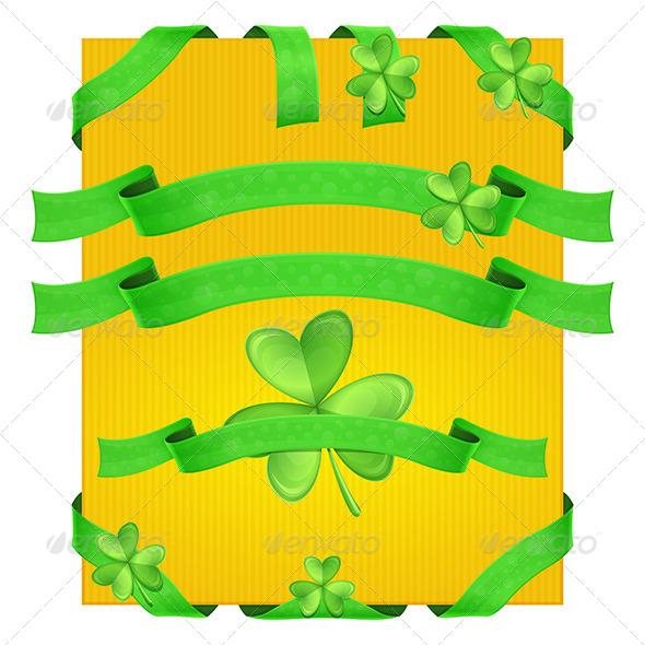 GraphicRiver Decorative Ribbons Shamrock 6792174