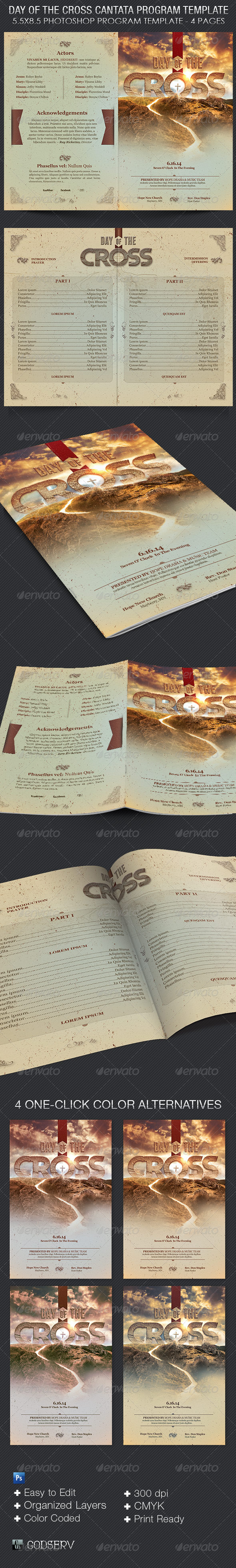 GraphicRiver Day of The Cross Church Program Template 6792664