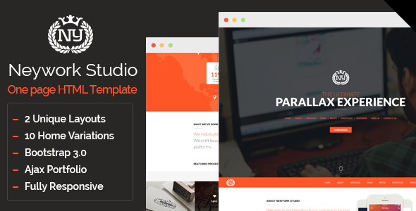 ThemeForest Newyork Studio Multipurpose Parallax Template 6793047