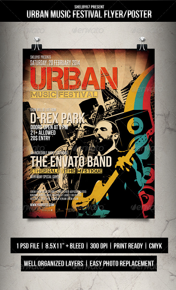 GraphicRiver Urban Music Festival Flyer Poster 6793519