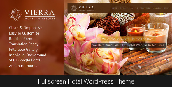 ThemeForest Vierra Responsive Hotel Wordpress Theme 5992155