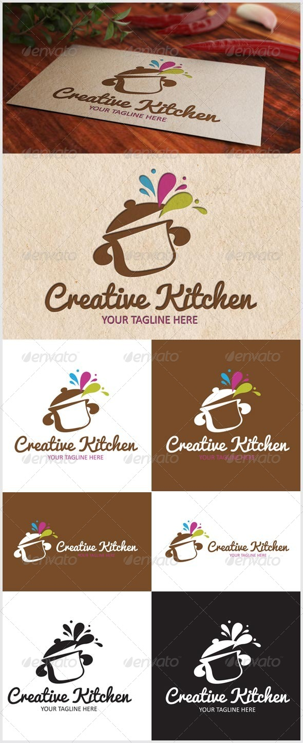 GraphicRiver Creative Kitchen Logo 6791091
