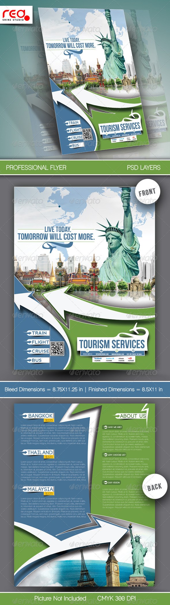 GraphicRiver Travel Tours Flyer Template 6794171