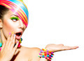 Beauty Woman with Colorful Makeup, Hair, Nails and Accessories - PhotoDune Item for Sale