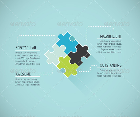 GraphicRiver Puzzle Piece Background 6794192