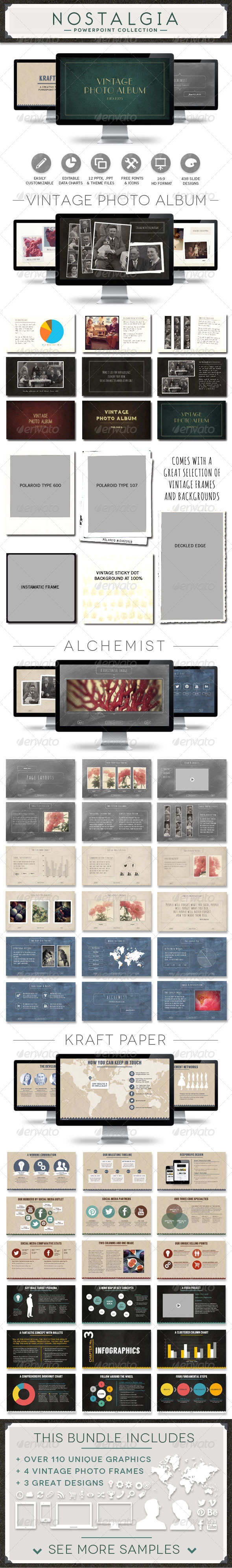 GraphicRiver Nostalgia Collection Powerpoint Template Bundle 6794652