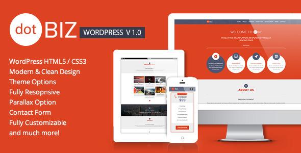 ThemeForest dotBIZ WordPress Responsive OnePage Parallax 6253785