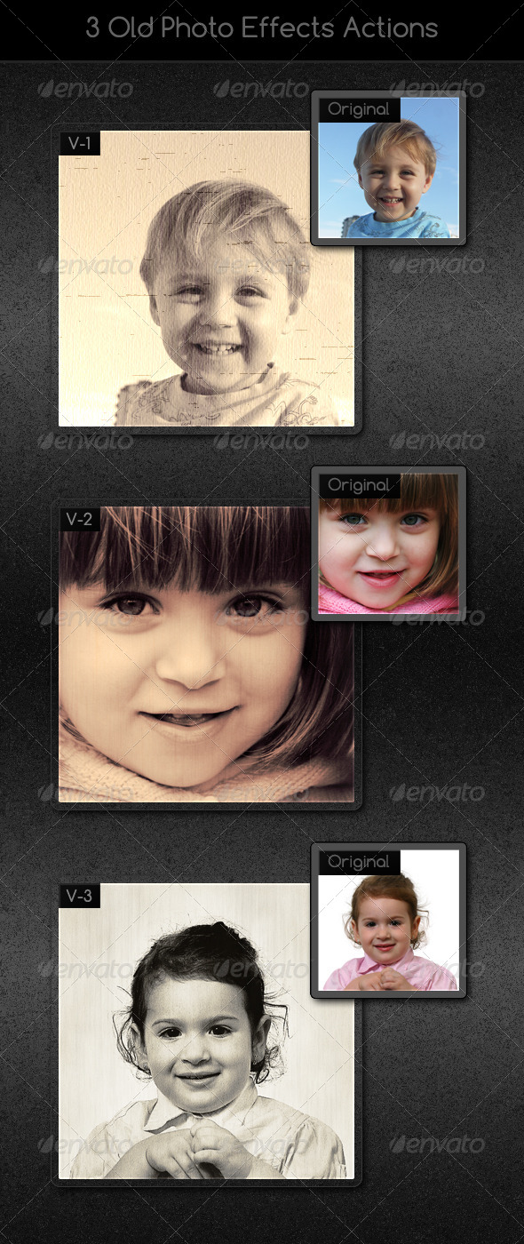 GraphicRiver 3 Old Photo Effects Actions 6794732