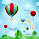 Hot Air !balloons over the Hills - GraphicRiver Item for Sale