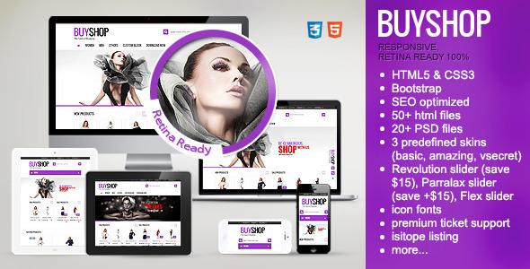 ThemeForest BuyShop Premium Responsive Retina HTML theme 6795553
