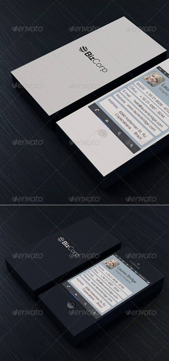 Iphone Business Card Vol 1 - Real Objects Business Cards