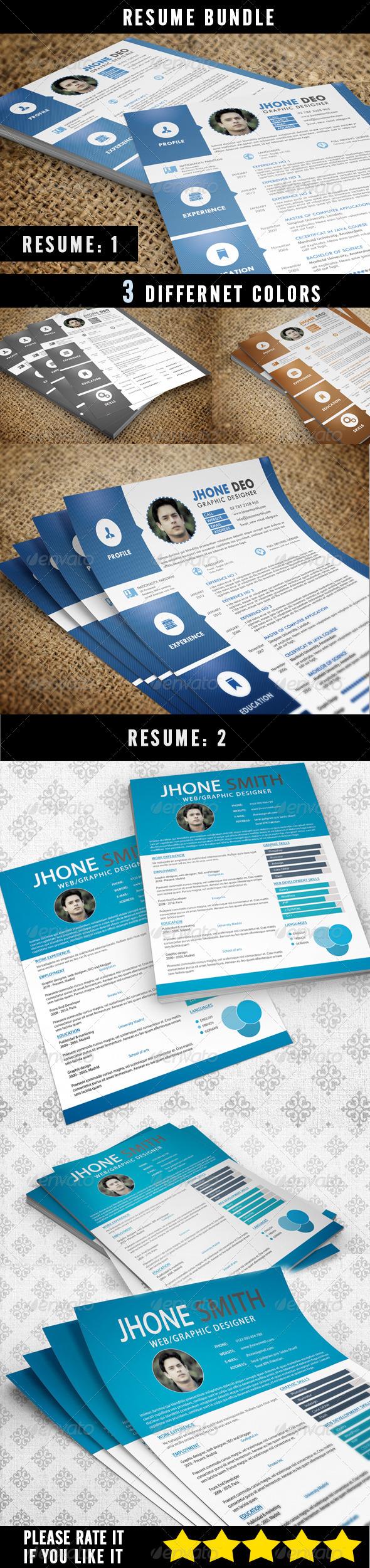 GraphicRiver Resume Bundle 6796110